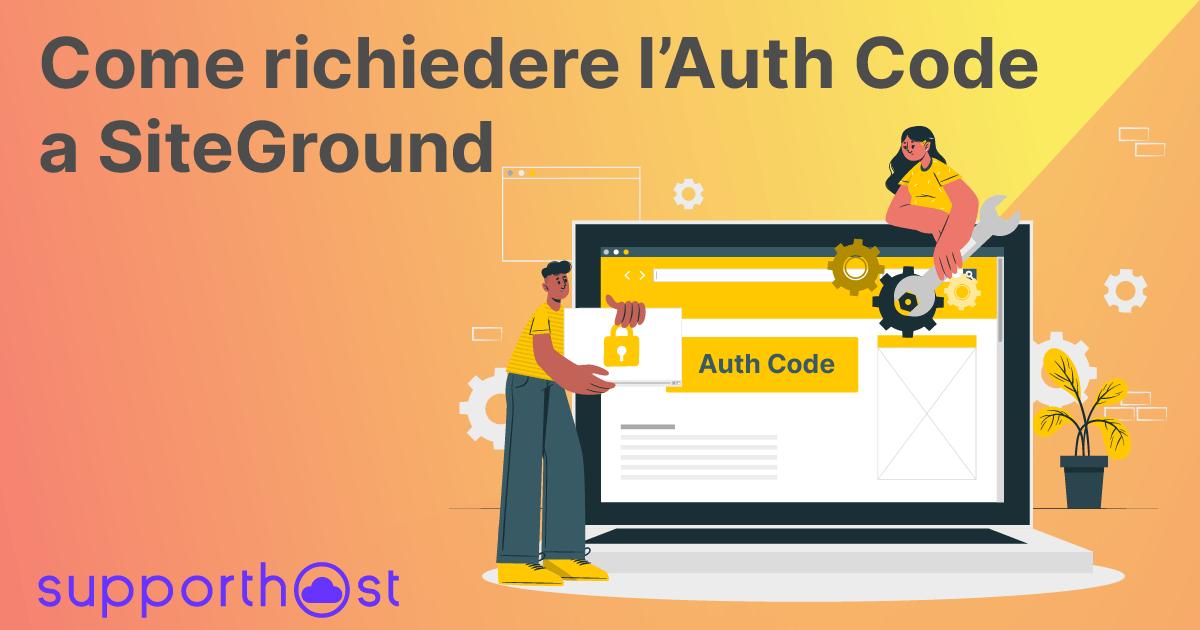 Richiedere EPP Code/Auth-Code a SiteGround