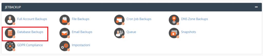 Jetbackup Database Backup
