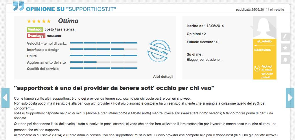 El Rotello Opinioni Supporthost Ciao.it