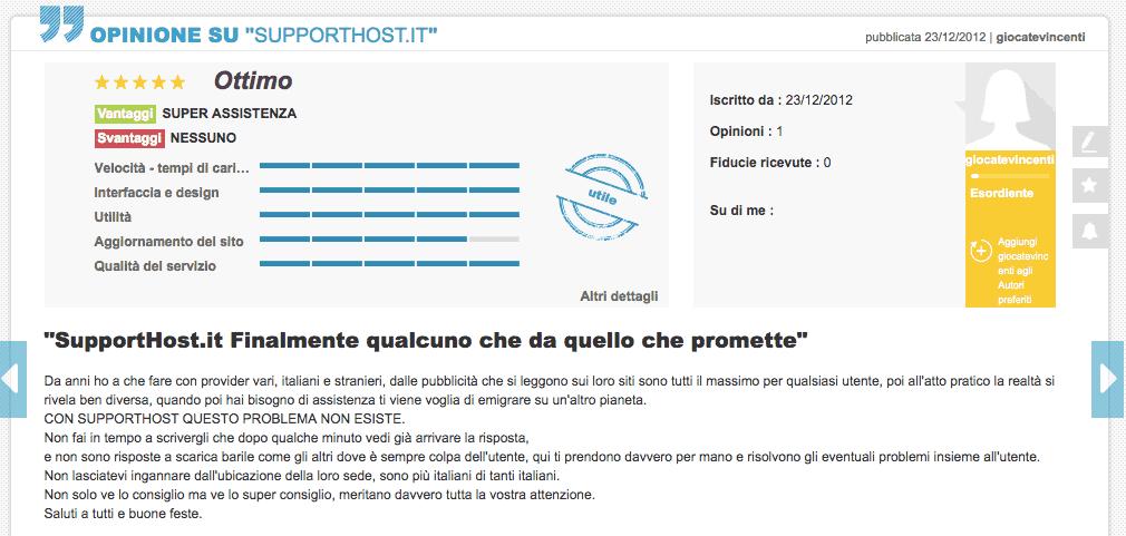 Giocatevincenti Opinioni Supporthost Ciao.it