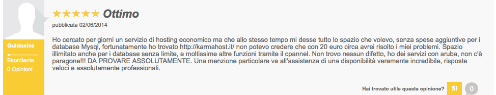 Guido Opinioni Supporthost Ciao.it