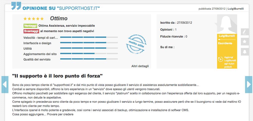 Luigi Opinioni Supporthost Ciao.it