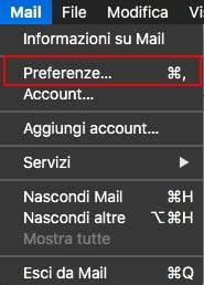 Configurazione del client di posta