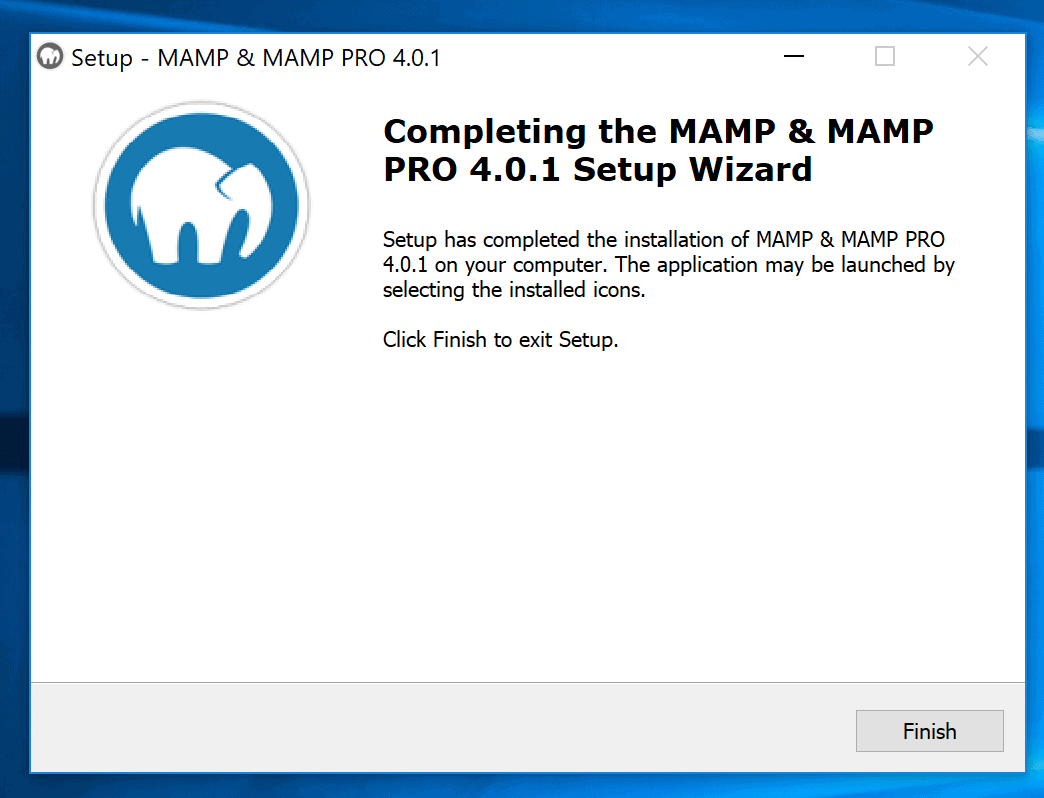 Installare Mamp Su Windows Completato