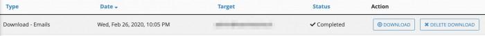 Ripristino email da backup automatico