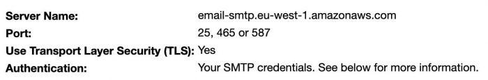 Usare amazon SES per l'invio di email massive