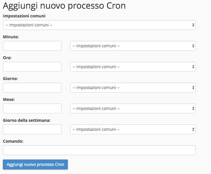 Come configuro un cron job?