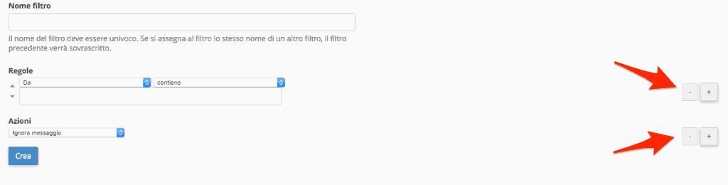 Come creo un filtro per un utente specifico?