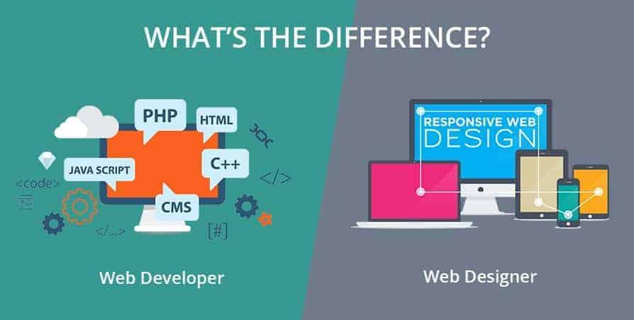 Qual'è la differenza tra web-developer e web-designer