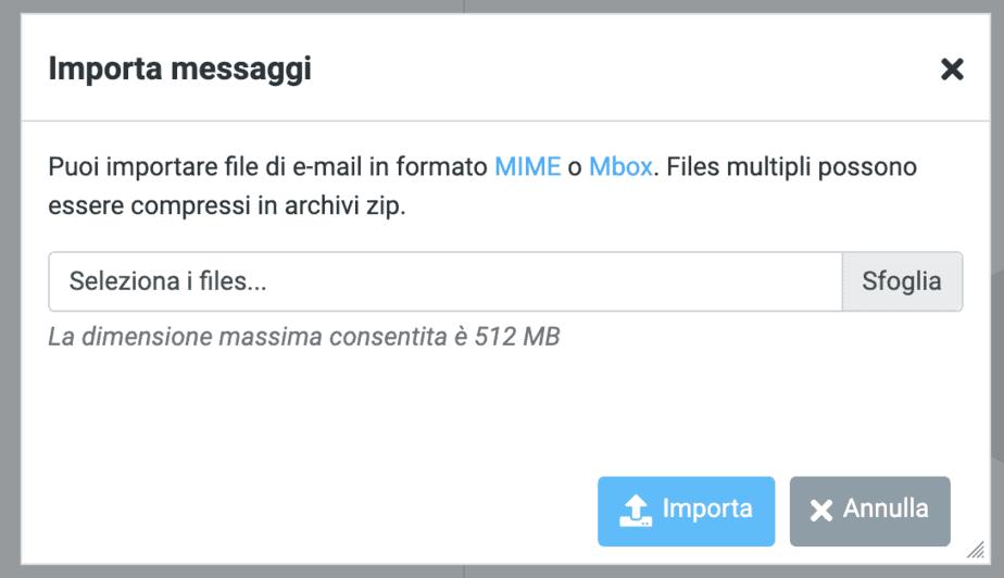 Carica File Mbox Rounndcube