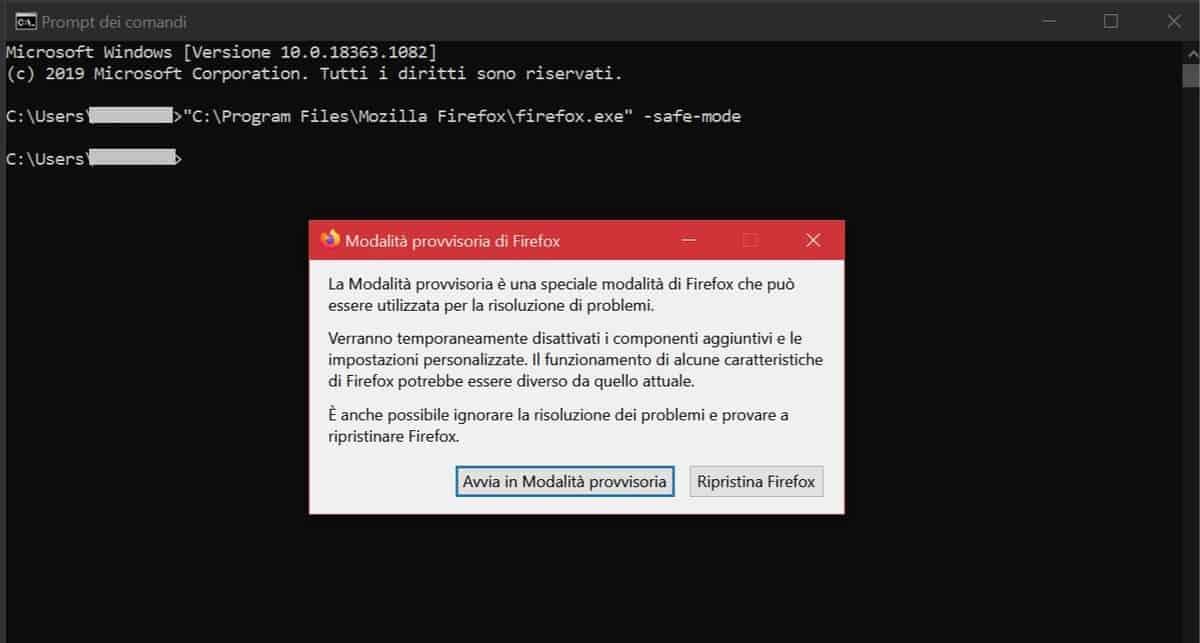 Modalita Provvisoria Firefox