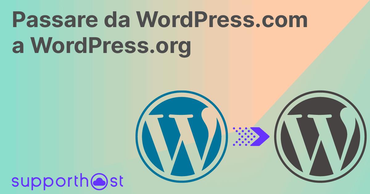 Come Passare Da WordPresscom A WordPressorg