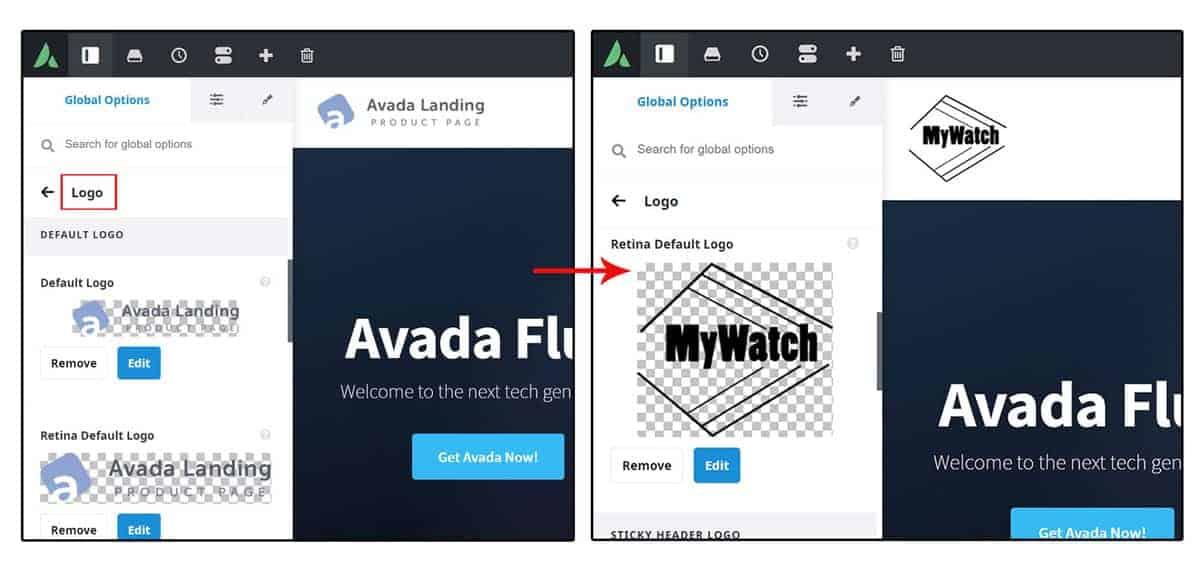 Come Usare Avada Live Per Cambiare Logo