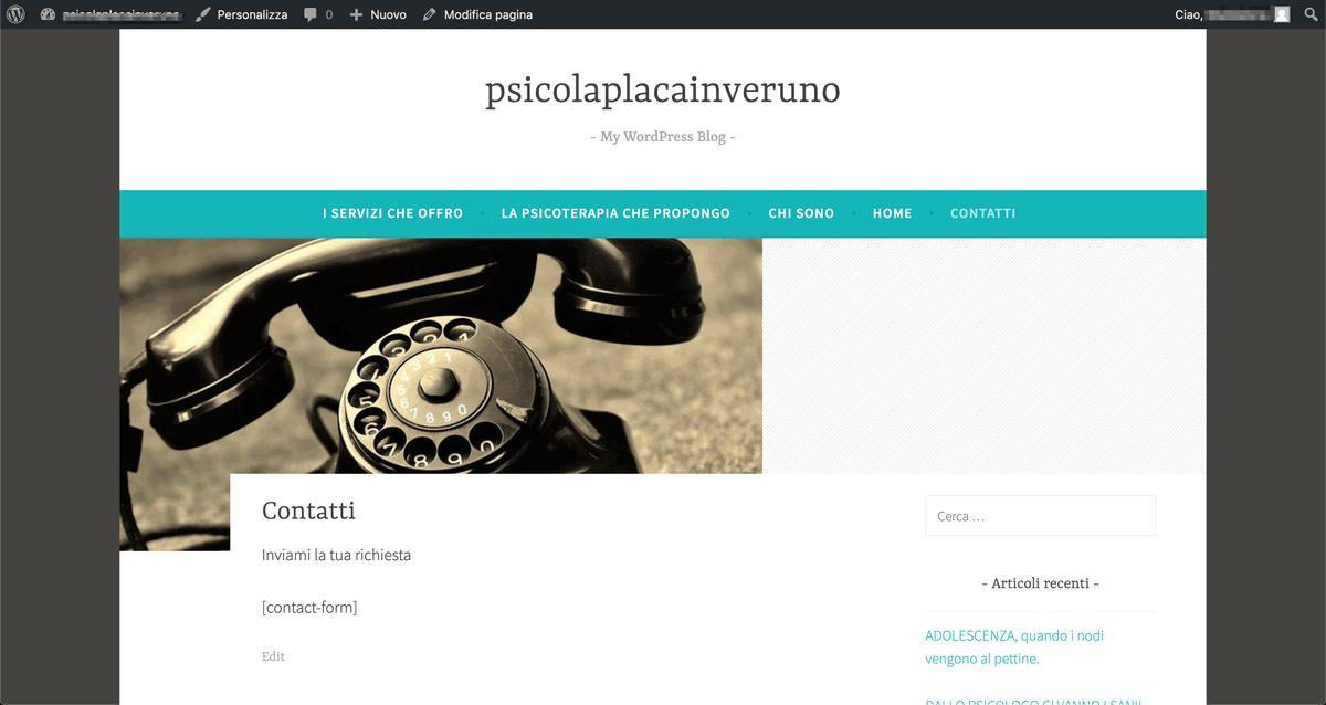Contact Form Dopo Il Passaggio