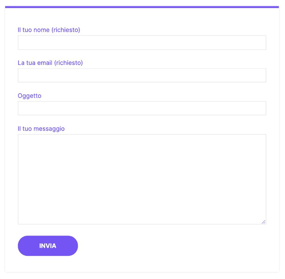 Contact Form 7 Sul Nostro Sito Nella Pagina Contatti