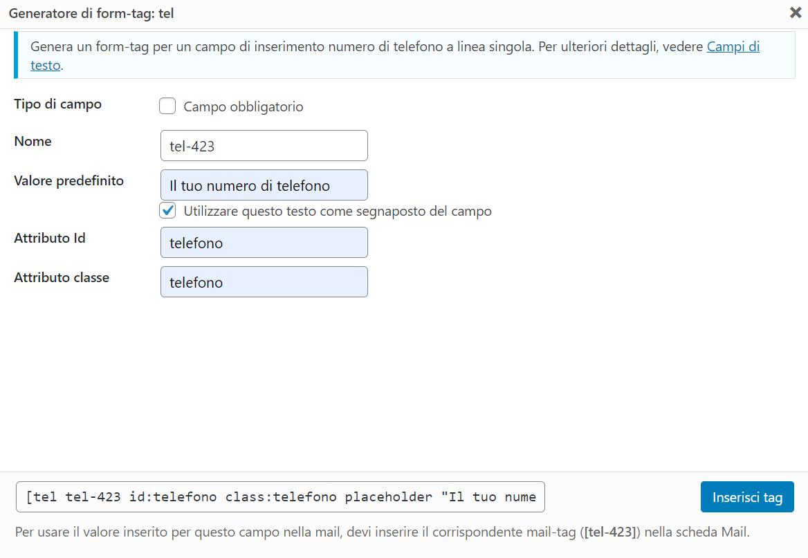 Contact Form Tel