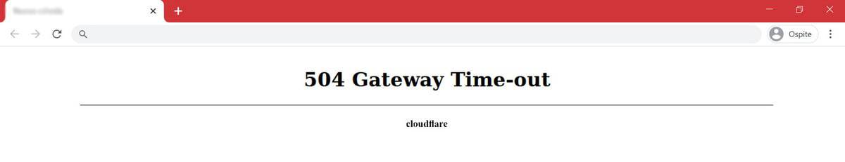 504 Gateway Time Out