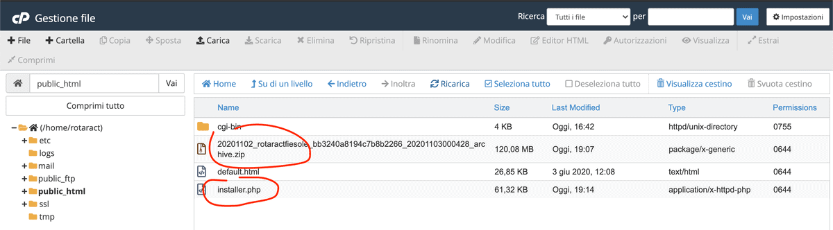 Duplicator Carica Backup