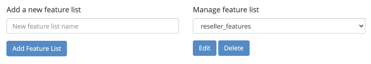 Feature Manager Hosting Reseller