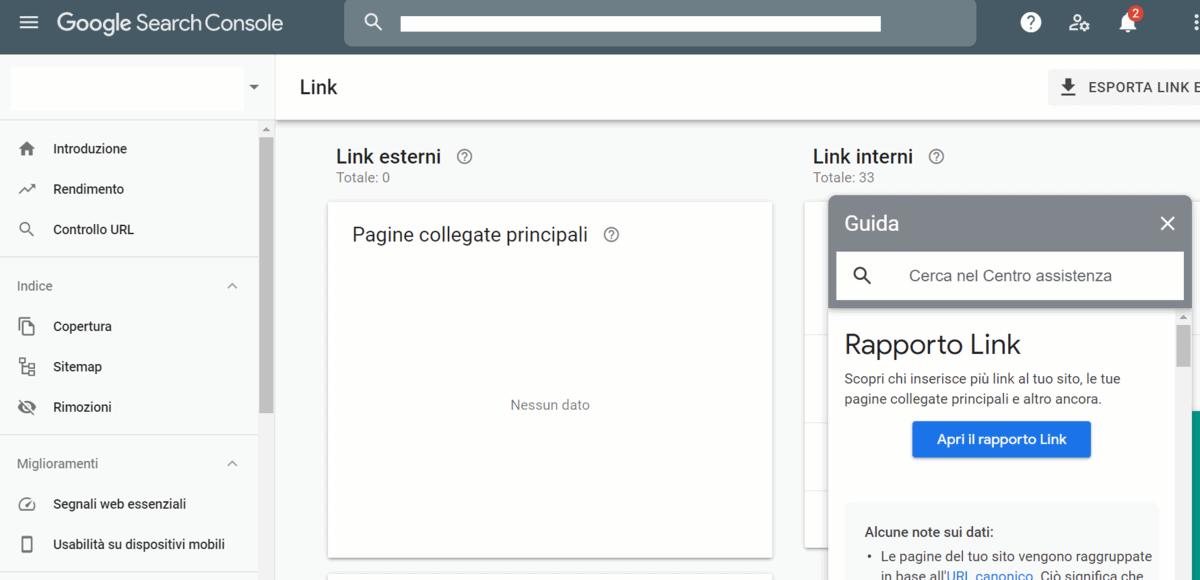 Link Interni E Esterni Search Console Google