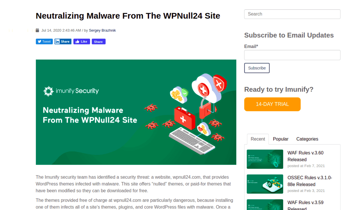 Blog Imunify Malware
