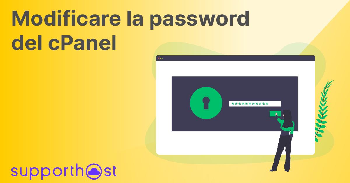 Modificare la password del cPanel