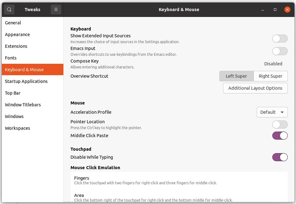Tewaks Ubuntu Tasto Compose