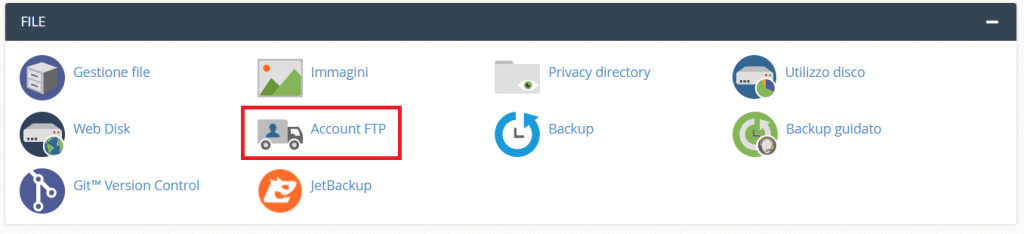 Account Ftp Cpanel