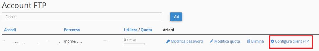 Configura Client Ftp