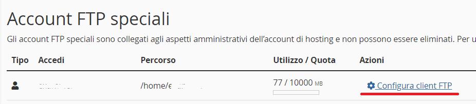 Configura Client Ftp Account Ftp Speciali