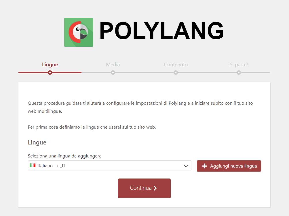 Polylang Procedura Guidata Lingue