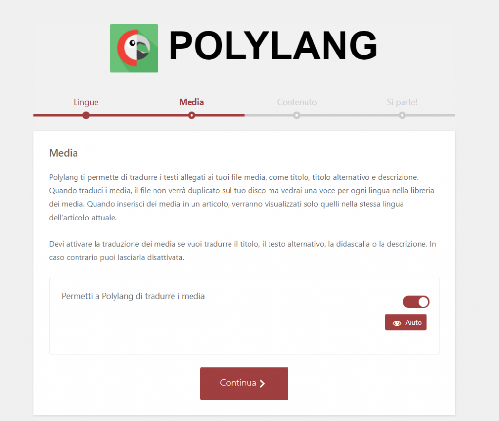 Polylang Procedura Guidata Media