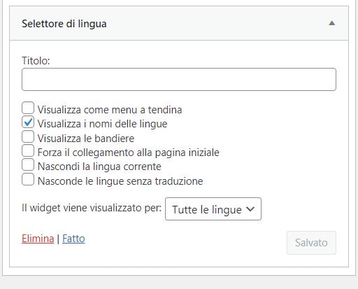 Widget Selettore Di Lingua Polylang