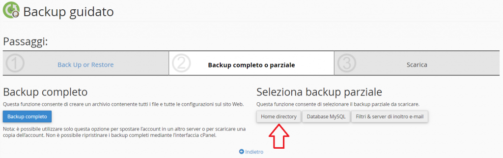 Backup Parziale File