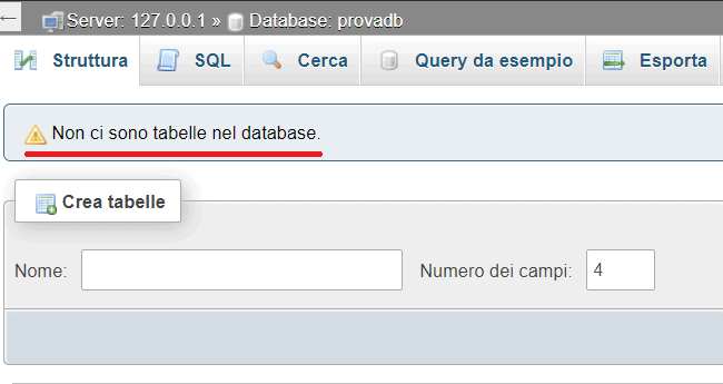 Database Senza Tabelle