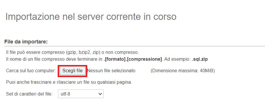 Importa Database