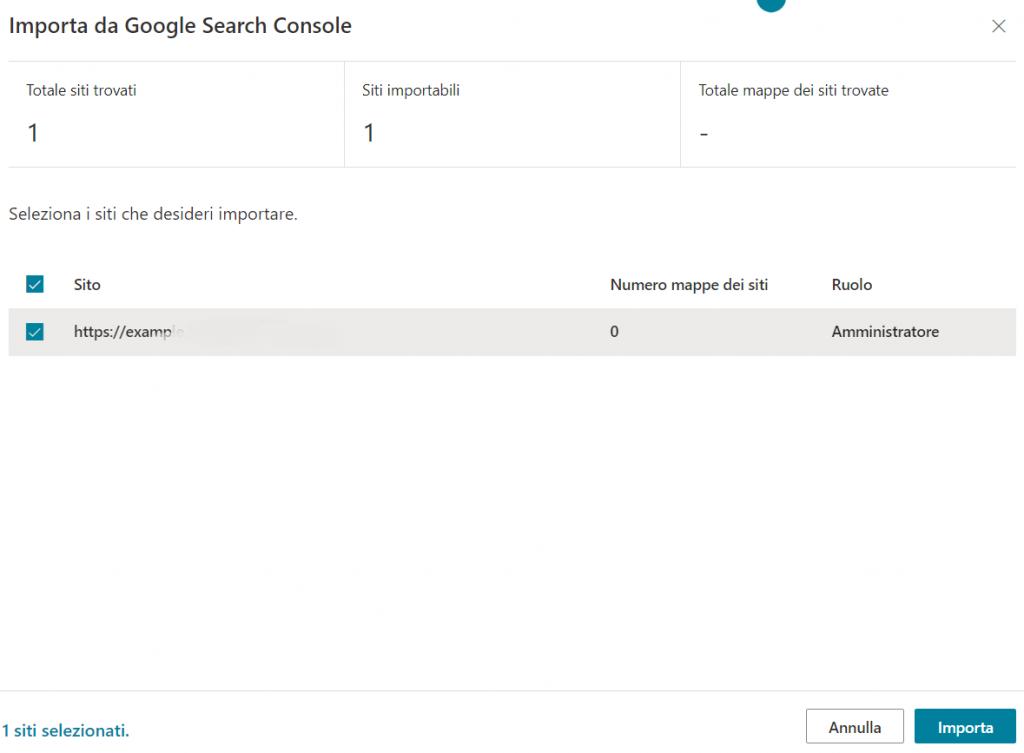 Importare Sito Da Search Console A Bing
