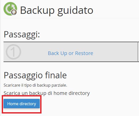 Scaricare Backup Parziale File