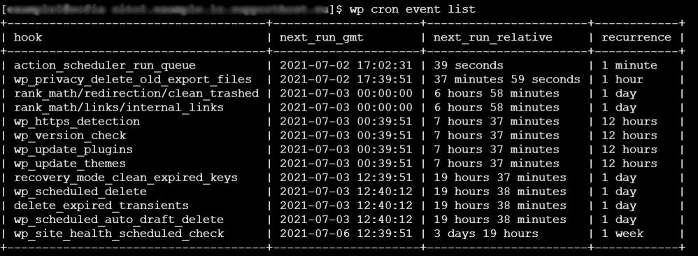 Lista Cron Wp Cli