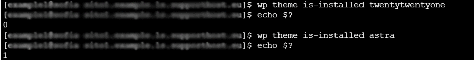 Verificare Tema Installato Wp Cli