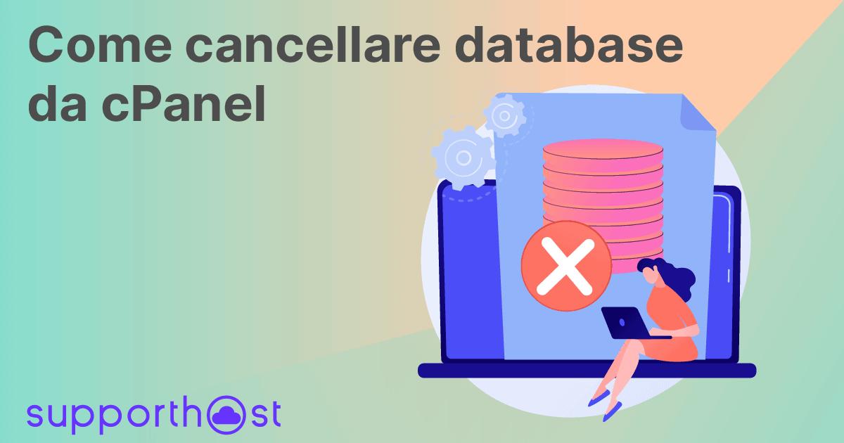Come cancellare database da cPanel
