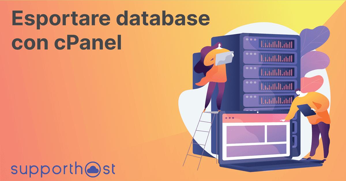 Esportare database con cPanel