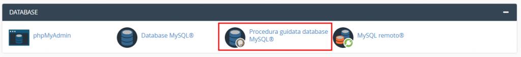 Procedura Guidata Database Mysql