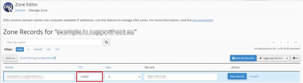 Zone Editor Modificare Ttl