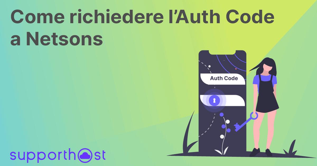 Richiedere EPP Code/Auth Code a Netsons