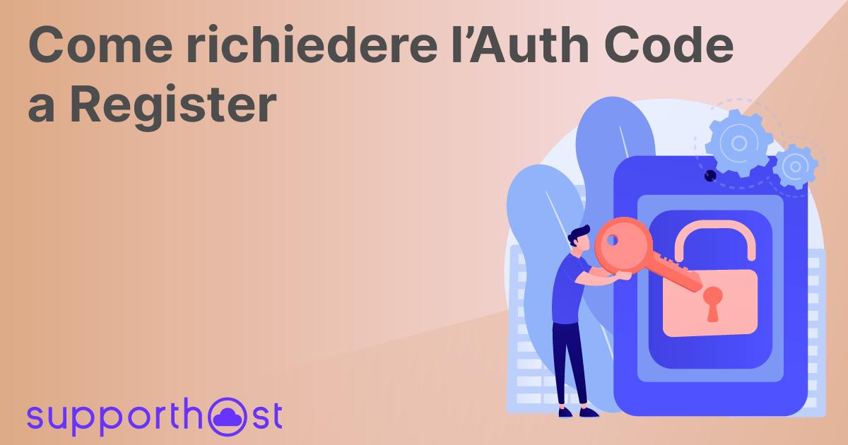Richiedere EPP Code/Auth Code a Register