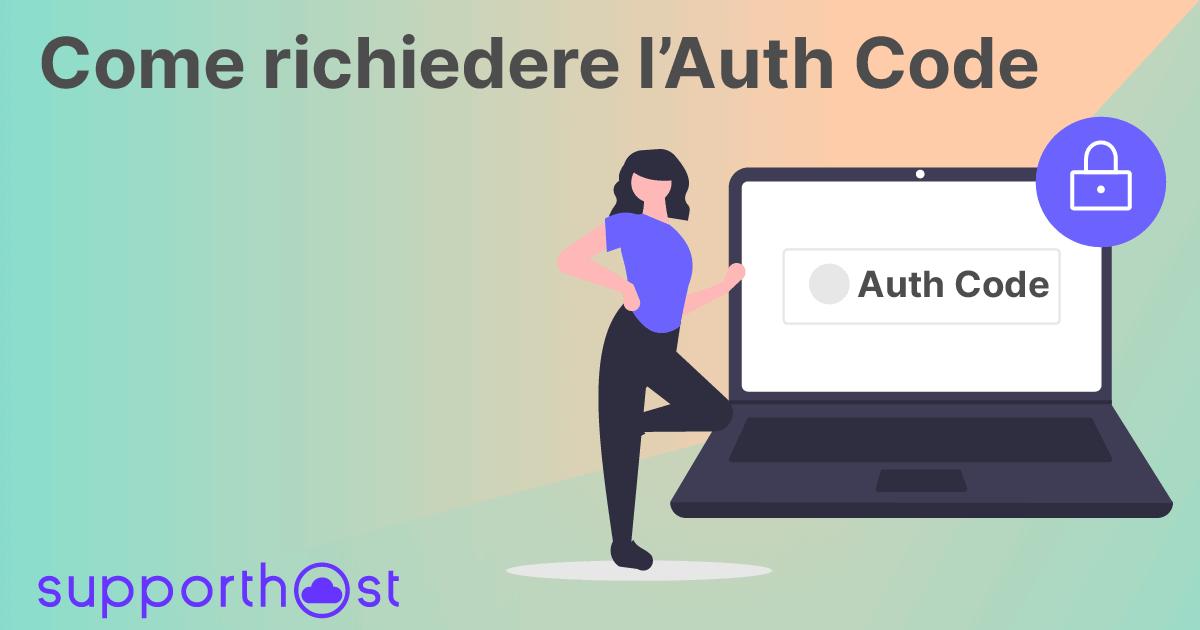 Come richiedere l'auth code