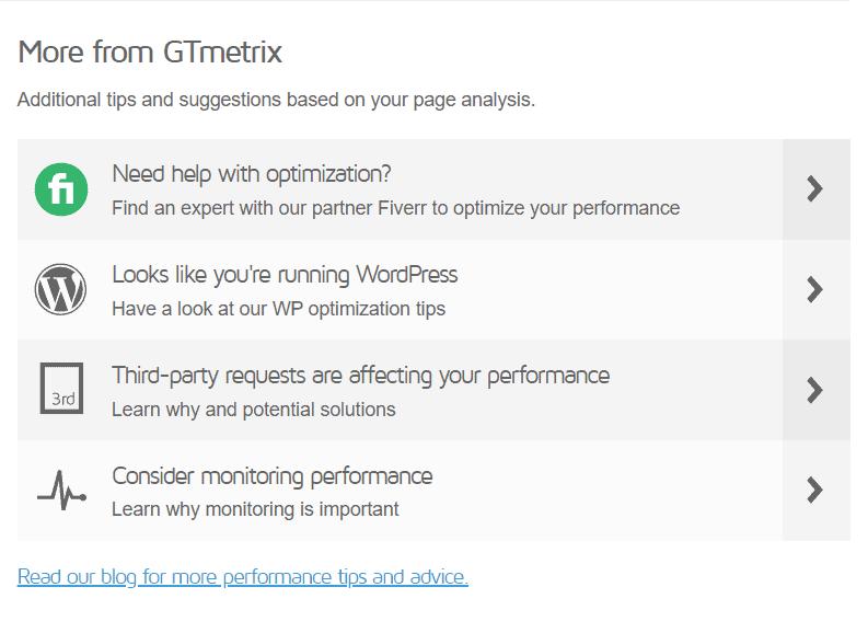 More From Gtmetrix
