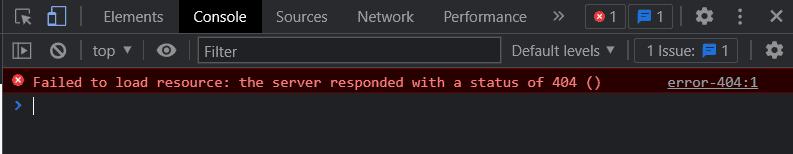 Errore 404 Console Sviluppatori Chrome