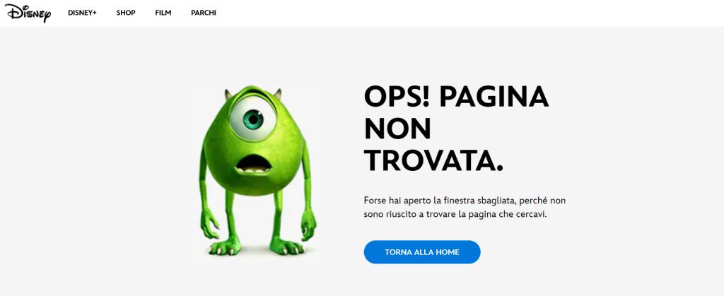 Errore 404 Disney
